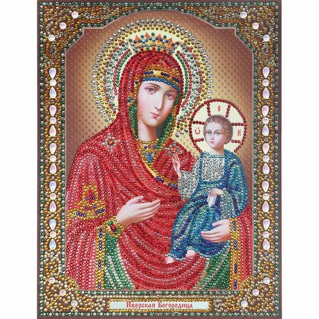 Bedazzled Diamond Painting - Religion - 5 - Floating Styles - Diamond Embroidery - Paint With Diamond