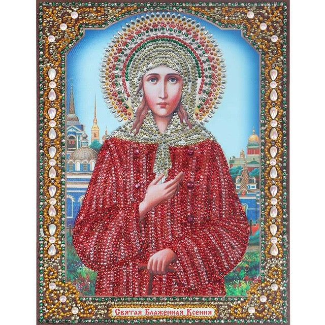 Bedazzled Diamond Painting - Religion - 2 - Schwimmende Stile - Diamantstickerei - Malen mit Diamant