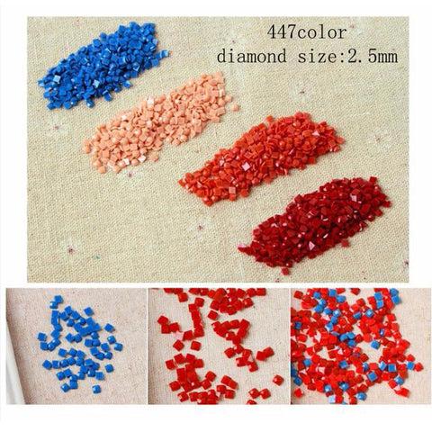Square Diamond Beads - Floating Styles - Diamond Embroidery - Paint With Diamond