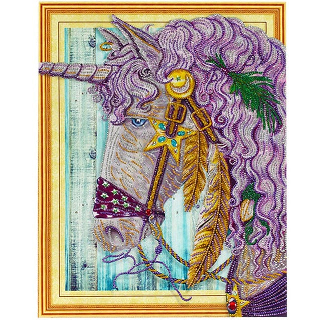 Bedazzled Diamond Painting - Unicorn - Floating Styles - Diamond Embroidery - Paint With Diamond