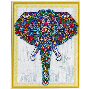 Bedazzled Diamond Maleri - Elephant - Floating Styles - Diamond Broderi - Maling Med Diamond