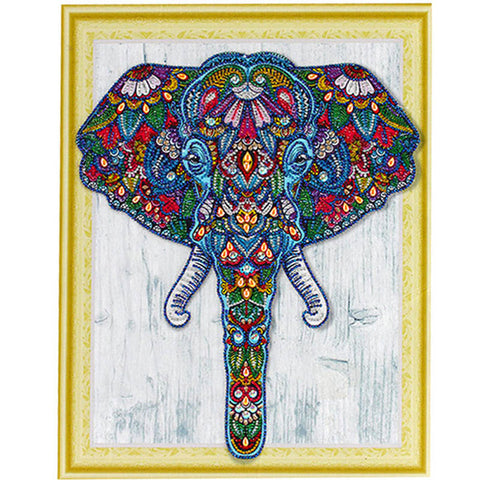 Bedazzled Diamond Painting - Elephant - Floating Style - Diamond Haft - Paint With Diamond