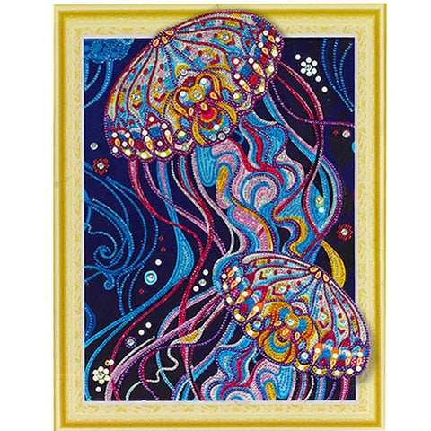 Obraz Bedazzled Diamond Painting - Colorful Octopus - Floating Style - Diamond Haft - Paint With Diamond