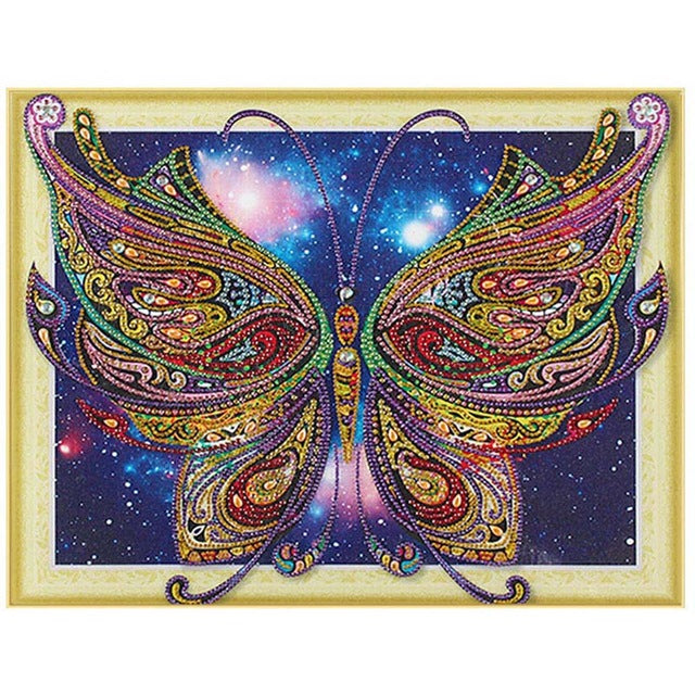 Bedazzled Diamond Painting - Butterfly in Galaxy - Floating Style - Diamond Haft - Paint With Diamond