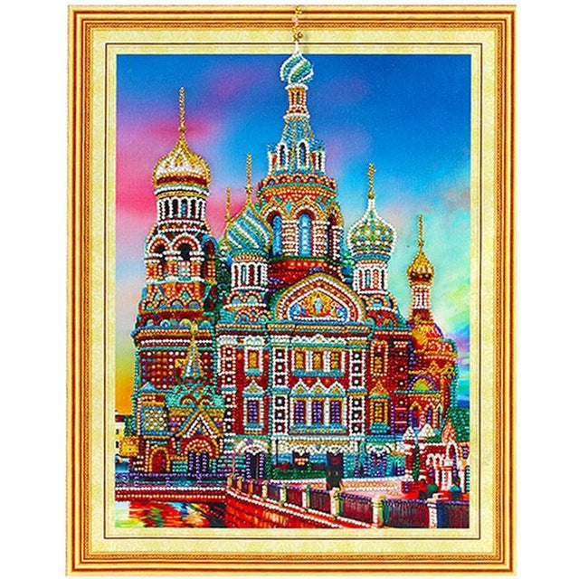 Bedazzled Diamond Painting - Moskau - Schwimmende Stile - Diamantstickerei - Malen mit Diamant