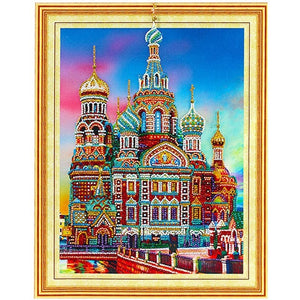 Bedazzled Diamond Painting - Moskwa - Floating Style - Diamond Haft - Paint With Diamond