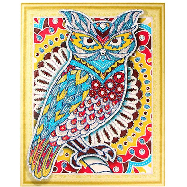 Bedazzled Diamond Painting - Wonder Owl - Flytande stilar - Diamond Broderi - Måla med Diamond