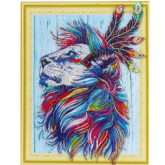 Bedazzled Diamond Painting - A Lion's Deep Thought - Floating Style - Diamond Haft - Paint With Diamond