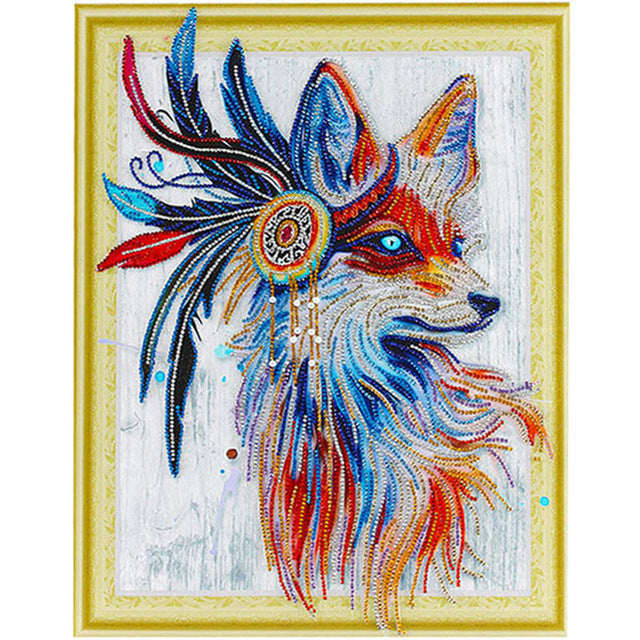 Bedazzled Diamond Painting - Wolf - Floating Styles - Diamond Broderi - Måla Med Diamond