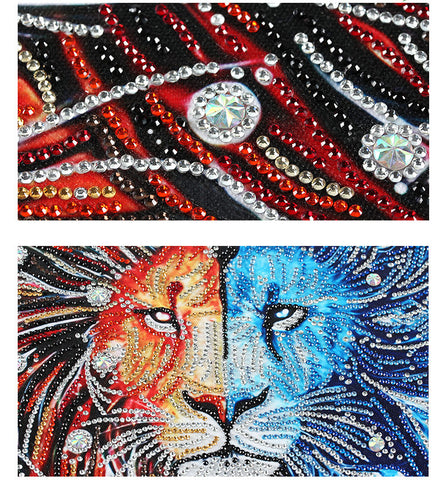 Image of Bedazzled Diamond Painting - Wolf - Floating Styles - Diamond Embroidery - Paint With Diamond