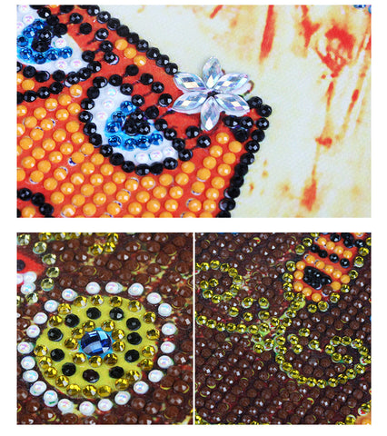 Image of Bedazzled Diamond Painting - Abstract Cats - Floating Styles - Diamond Embroidery - Paint With Diamond