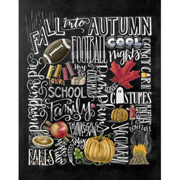 Daimond Painting - Blackboard - Autumn - Floating Styles - Diamond Embroidery - Paint With Diamond