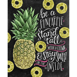 Daimond Painting - Blackboard - Pineapple - Floating Styles - Diamond Embroidery - Paint With Diamond
