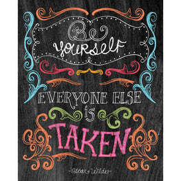 Daimond Painting - Blackboard - Be Yourself - Floating Styles - Diamond Embroidery - Paint With Diamond