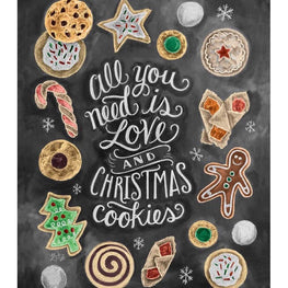 Daimond Painting - Blackboard - Christmas Cookies - Floating Styles - Diamond Embroidery - Paint With Diamond