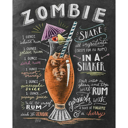 Daimond Painting - Blackboard - Zombie - Floating Styles - Diamond Embroidery - Paint With Diamond