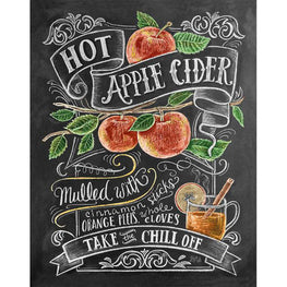 Daimond Painting - Blackboard - Apple Cider - Floating Styles - Diamond Embroidery - Paint With Diamond