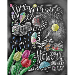 Daimond Painting - Blackboard - Spring Spring! - Floating Styles - Diamond Embroidery - Paint With Diamond
