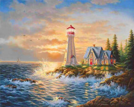 Diamond painting - Lighthouse -18 - Floating Styles - Diamond Embroidery - Paint With Diamond