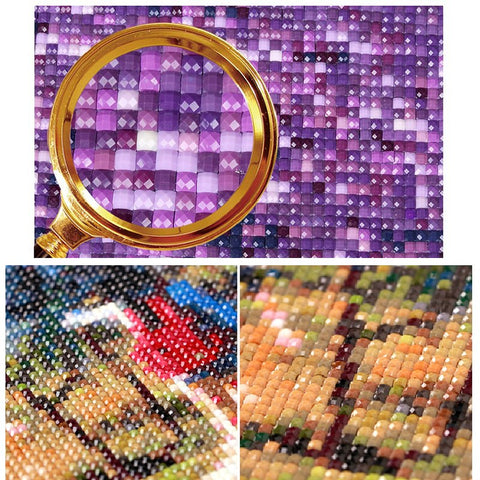 Diamond Painting - Christmas Cabin - Floating Styles - Diamond Embroidery - Paint With Diamond