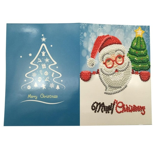 Christmas Diamond Painting Greeting Card - 04 - Floating Styles - Diamond Embroidery - Paint With Diamond
