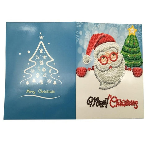 Immagine di Christmas Diamond Painting Greeting Card - 04 - Stili galleggianti - Diamante Ricamo - Dipingi con diamante