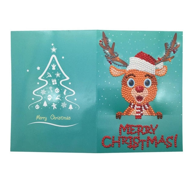 Christmas Diamond Painting Greeting Card - 07 - Floating Styles - Diamond Embroidery - Paint With Diamond