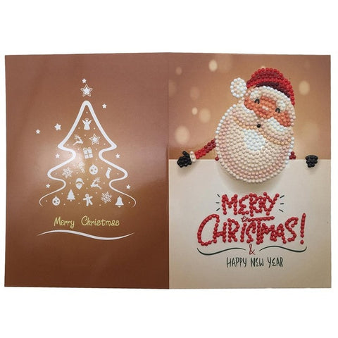 Immagine di Christmas Diamond Painting Greeting Card - 03 - Stili galleggianti - Diamante Ricamo - Dipingi con diamante