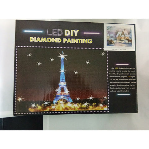 Bilde av LED Light Diamond Maleri Full Round Drill 30x40cm