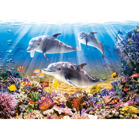 Afbeelding van Diamond Painting - Sea World - Drijvende stijlen - Diamond Embroidery - Paint With Diamond