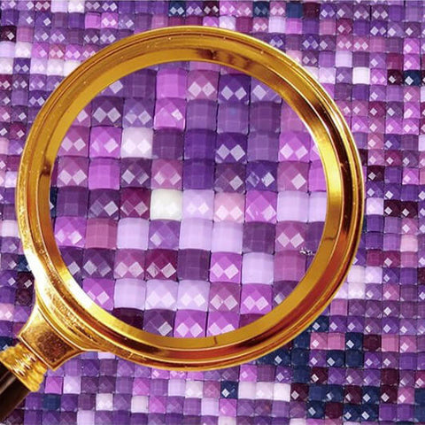 Imagem de 5 Painéis Diamond Painting - Flor de Lírio Roxo - Estilos Flutuantes - Diamond Embroidery - Paint With Diamond