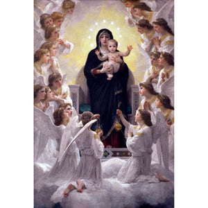 Diamond Painting -  The Virgin With Angels - Floating Styles - Diamond Embroidery - Paint With Diamond