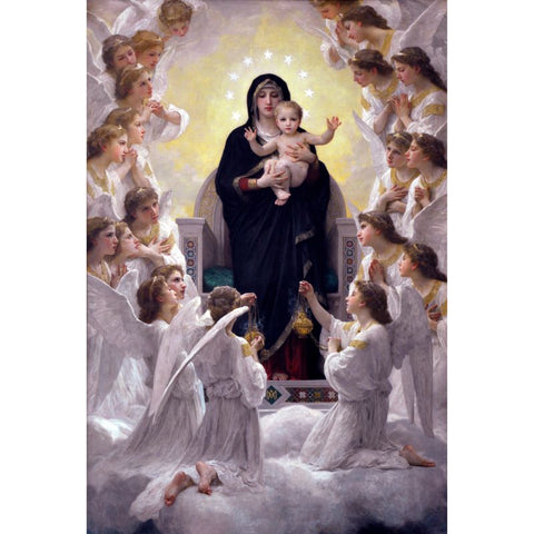Immagine di Diamond Painting - The Virgin With Angels - Stili fluttuanti - Diamond Embroidery - Paint With Diamond