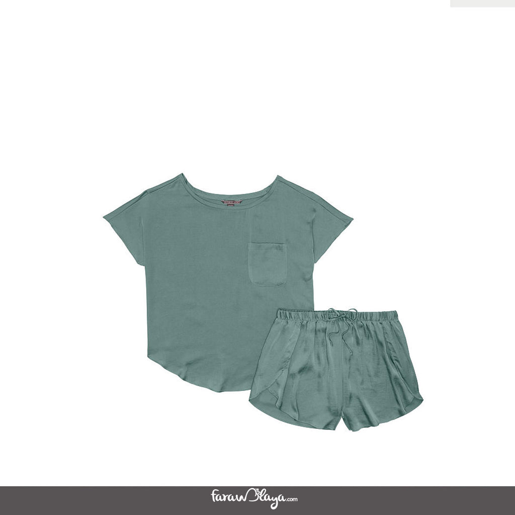Satin Oversized T-shirt & Short Set