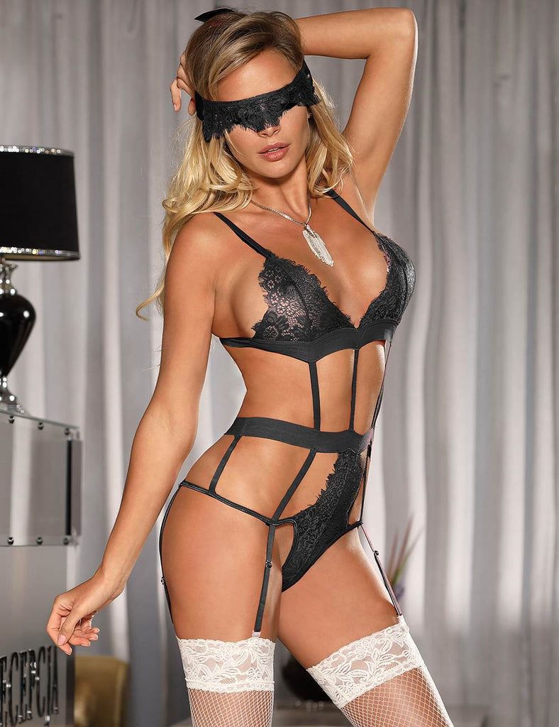 Love Affair Black Lace Teddy