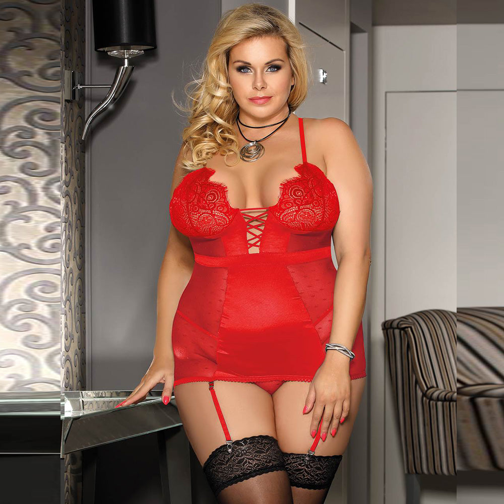 Lingerie For Plus Size Women Babydoll Deluxe