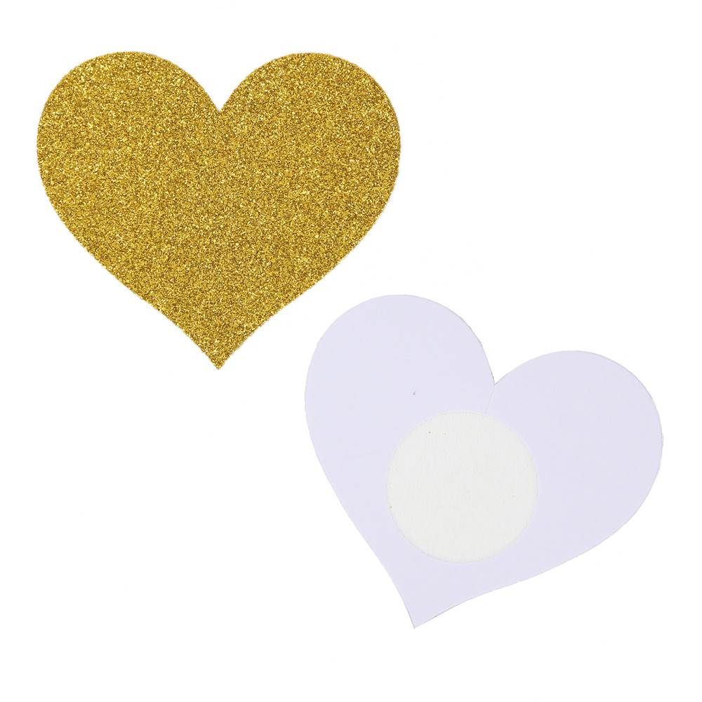 Glod Glitter Heart-shaped Nipple Cover