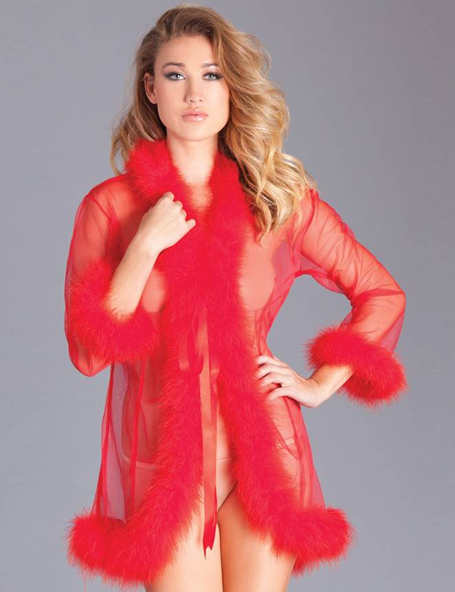 Queen Perspective Sleepwear With Fur