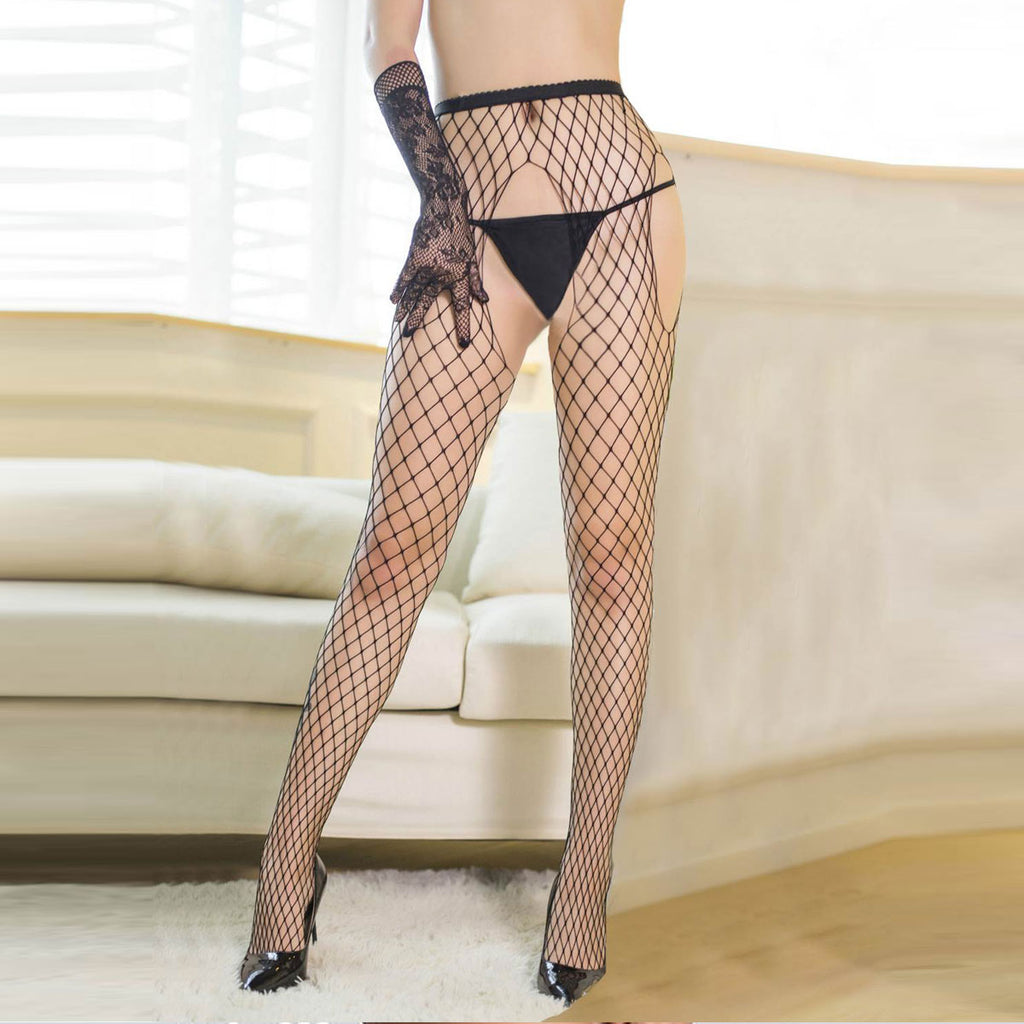 Black High Elasticity Fishnet Pantyhose