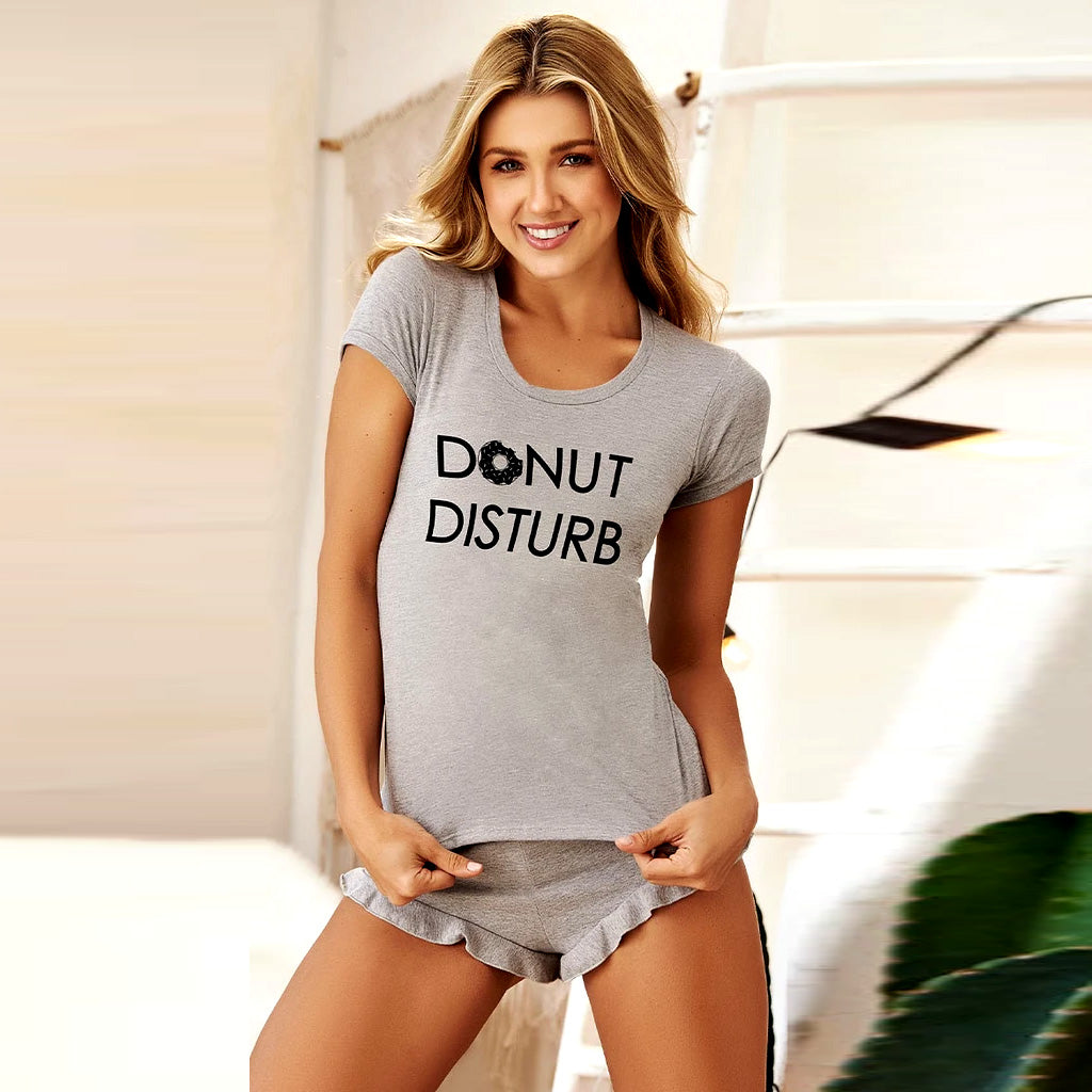 FARAWLAYA DONUT DISTURB PAJAMA SHORT SET