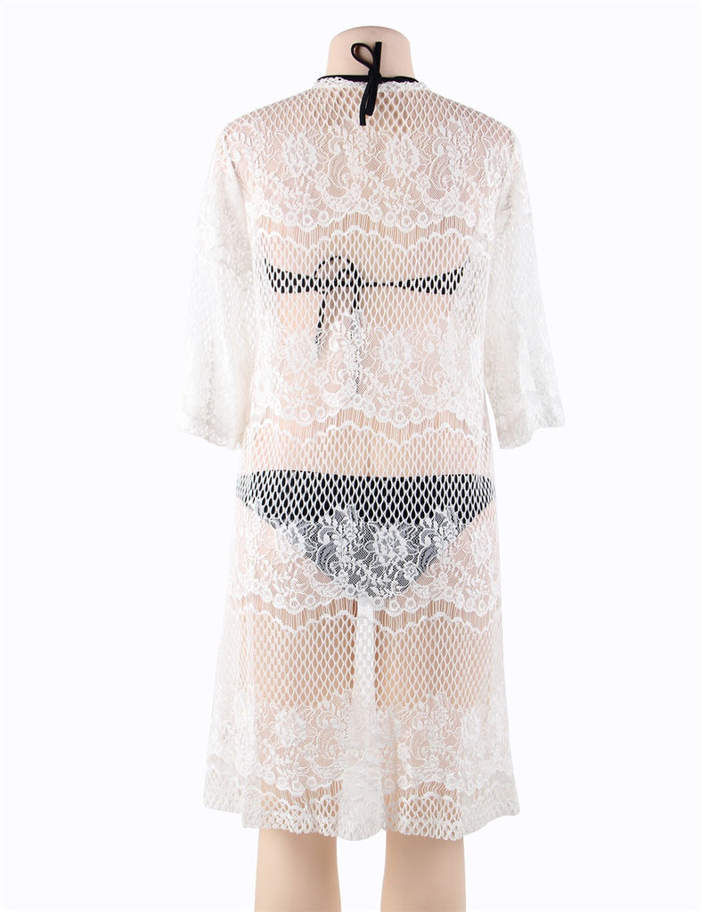 Knitted Hollow Out Open Beach Dress