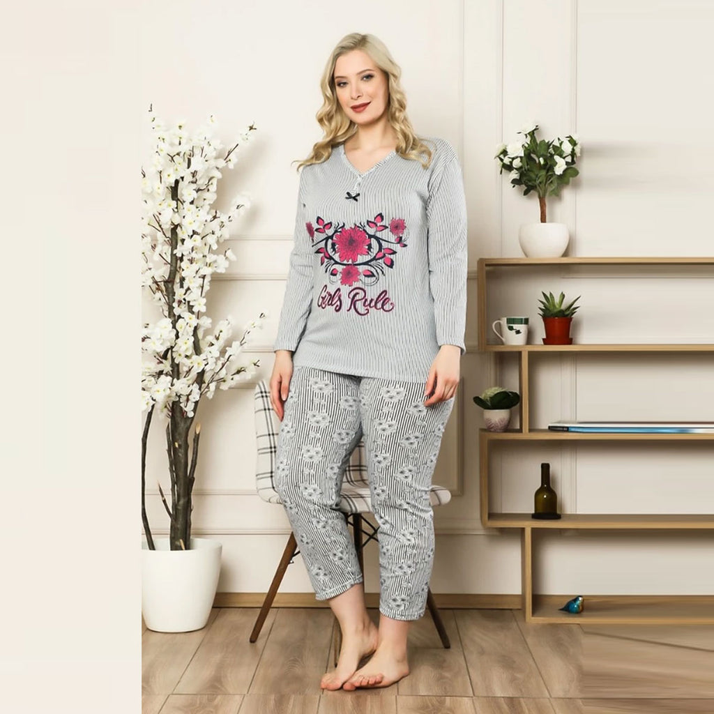 Women's Patterned Pajama Set
