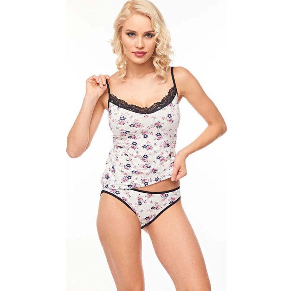 Flowers Turkish Underwear Set