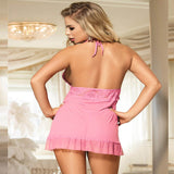 Lace Top Plus Size Open Back Babydoll