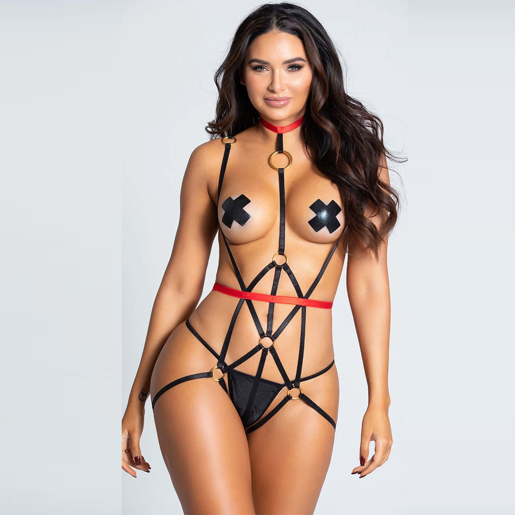 FARAWLAYA  IN THE RING GARTER HARNESS