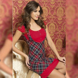 Plaid Short Nightdress