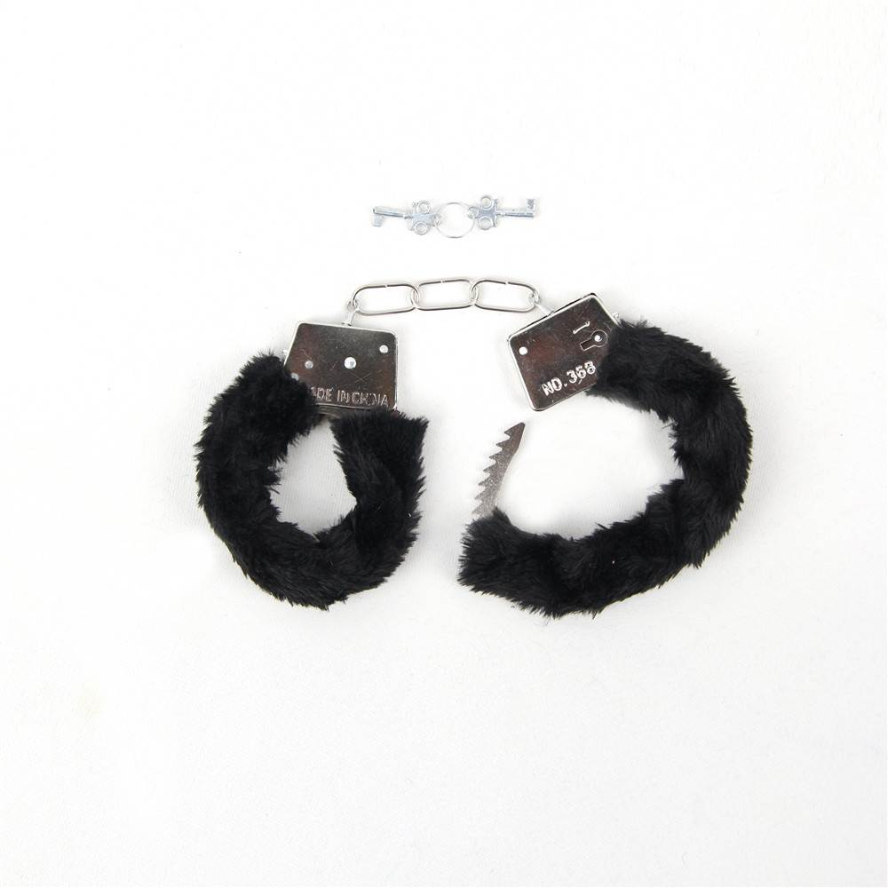 Pink & Red & Black Adult Soft Steel Fuzzy Furry Cuffs Working Metal Handcuffs