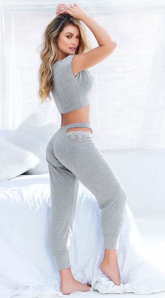 FARAWLAYA GREY AREA PAJAMA SET