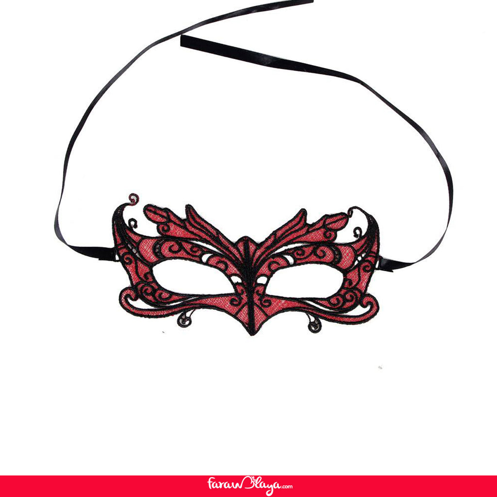 Charming Red Lace Eye Mask
