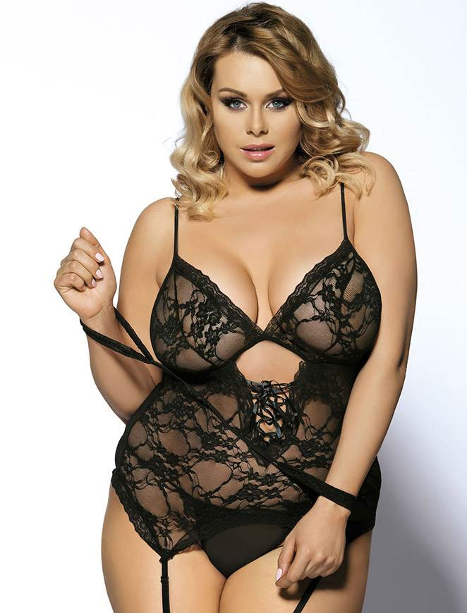 On Sale Black Teddy With Lace Handcuff